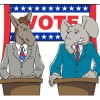 Democrat and Republican